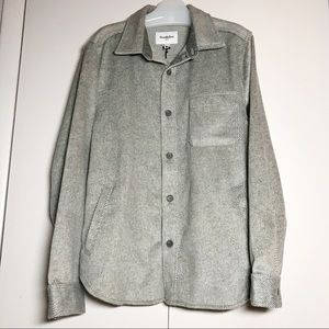 Grey Wool Herringbone Tweed Jacket NEW!